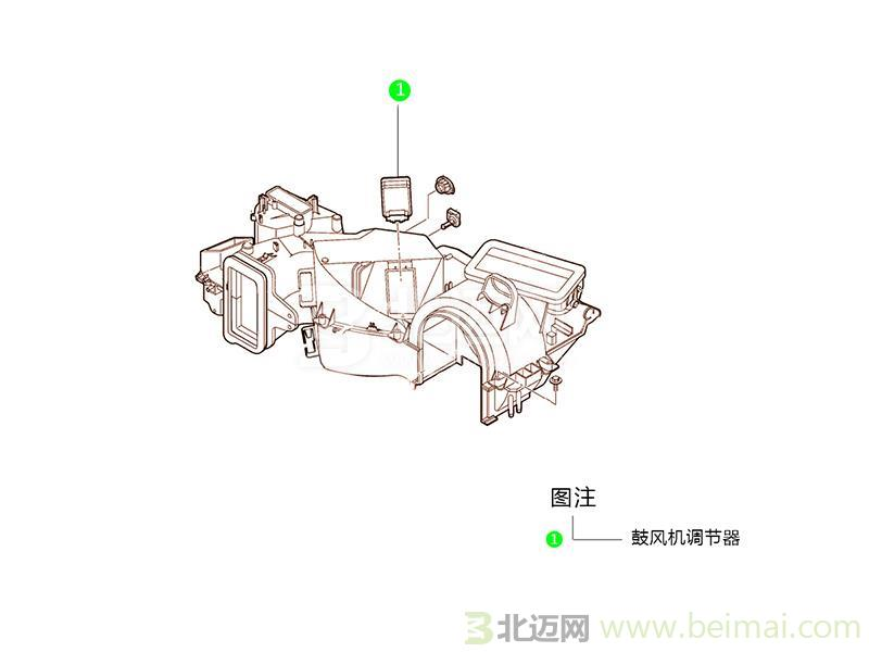 (2001-2008)鼓风机电机控制模块