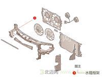 【迈氏认证】 原厂正品 进口宝马 1系 116i N45N 5门车 E87 LCI 1.6L N45B16A (2006-2011) 水箱右支架