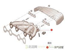 迈氏 上海通用雪佛兰 景程 1.8L 五挡手动 豪华导航版 (2011) 排气歧管