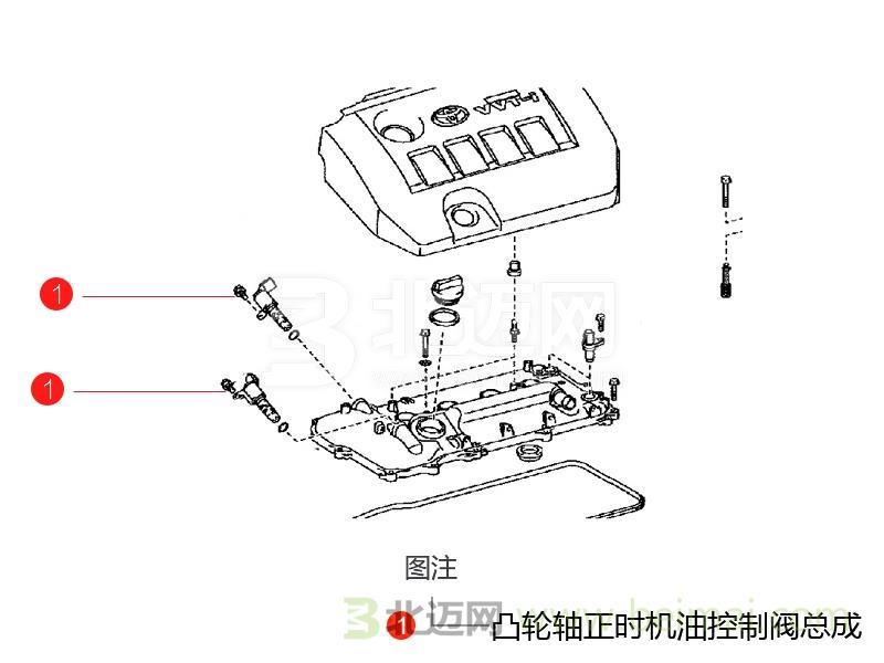 【广汽丰田第六代新款凯美瑞凸轮轴正时机油控制阀】.