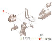 【迈氏配件】OEM上海大众新桑塔纳 1.6L 六挡手自一体 (2013-2016) 发电机