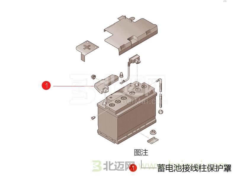 派d60蓄电池接线柱保护罩