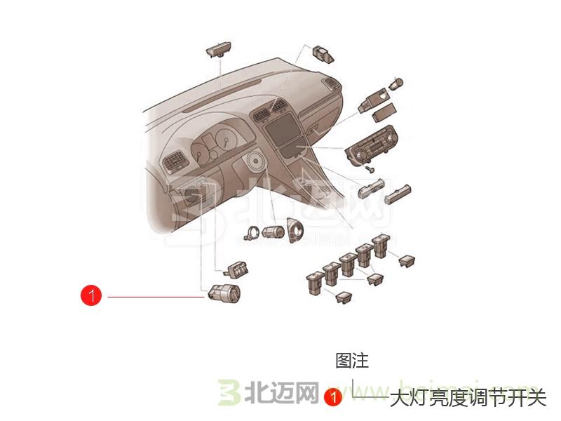 5l 无级变速 (2016-2016) 大灯亮度调节开关