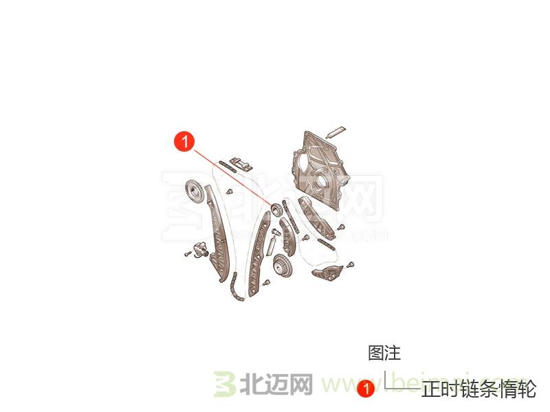 【北京现代新瑞纳正时链条惰轮价格】适用于2014款至l
