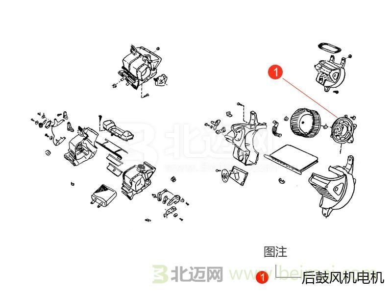 【广汽丰田全新汉兰达后鼓风机电机价格】适用于2015